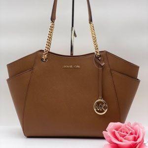 ❤️Michael Kors Chain Shoulder Bag Brown
